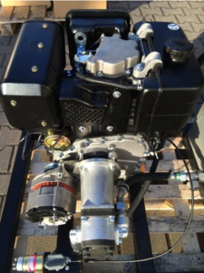 PTM440DPRO dieselmotor met E-Start met gemonteerde hydrauliekpomp én 40A alternator