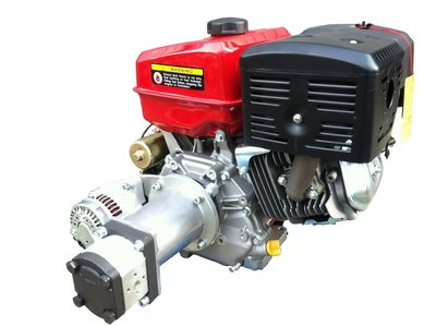 PTM390PRO benzinemotor, E-Start, met gemonteerde hydrauliekpomp (pompgroep 2) én 40A stroomvoorziening.
