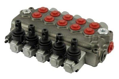 Stuurventiel 5 functies monoblok max. 45 liter